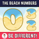 Beach Numbers Clipart