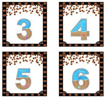 Beach Numbers Match Up Math Center