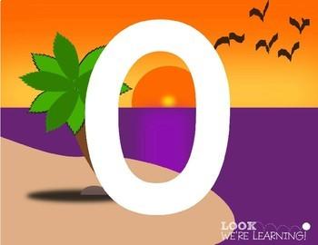Number Playdough Mats - Day at the Beach!