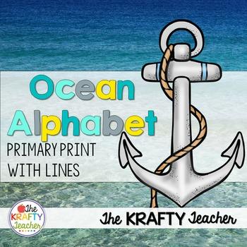 Beach Ocean Alphabet with pictures
