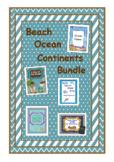 Beach, Ocean & Continents Bundle