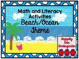 Beach / Ocean Math and Literacy Activities