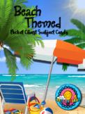 Beach Ocean Sea Summer Theme Pocket Chart Subject Schedule Cards and Calendar
