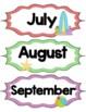 Beach / Ocean Theme 12 Month Signs