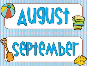 Beach & Ocean Themed Calendar Cards {summer crab} {Morning Math} Number Corner