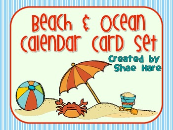 Beach & Ocean Themed Calendar Cards {summer crab} {Morning