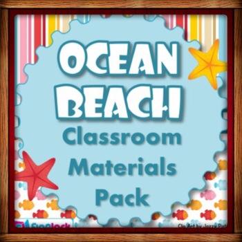 Beach Ocean Themed Classroom Bundle