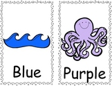 Beach - Ocean Themed Color Word Posters & Booklet