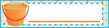 Beach Ocean Themed Name Tags Plates