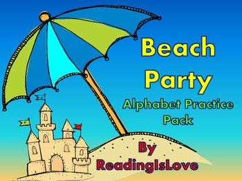 Beach Party Alphabet Practice Pack