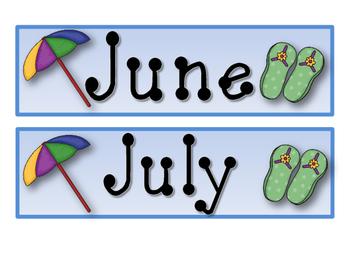 Beach Party Calendar Set