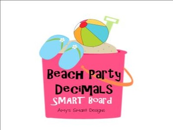 Beach Party Decimals SMART Board Lessons