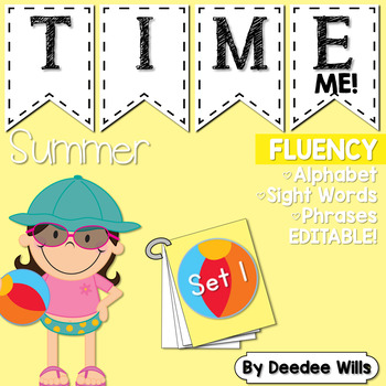 Dolch Word Fluency:  Time Me!  Summer