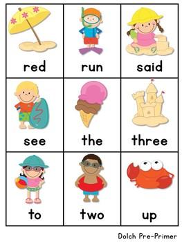 Sight Word Fluency Summer