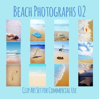 Beach Photos 2 - Details of Beaches / Ocean Shore Photograph Clip Art Set
