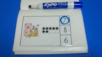 Beach Pigs Count and Clip Cards (Quantities to 20)