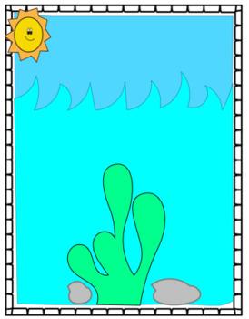 Beach Playdoh Mat - Fine Motor Mats