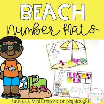 Beach Playdough Number Mats