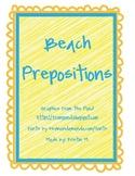 Beach Prepositions
