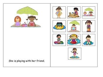 Beach Pronouns: He and She