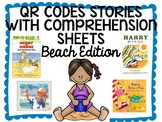 Beach QR CODE Comprehension Sheets