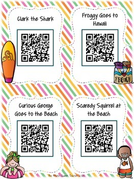 Beach QR Codes: 16 Sunny Stories for Daily Five Listen to Reading
