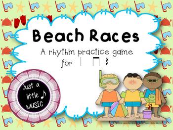 Beach Races--a rhythm game to practice ta titi rest