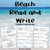 Summer Beach Read and Write (reading comprehension)