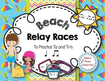 Beach Relay Races - to Practice Rhythms - Ta, Ti-ti
