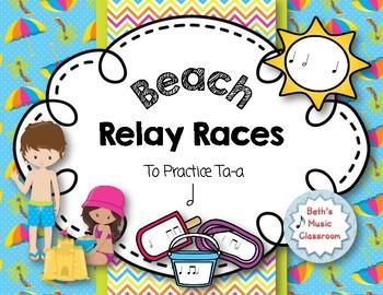 Beach Relay Races - to Practice Rhythms - Ta-a