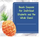 Beach Reward Coupons (EDITABLE)