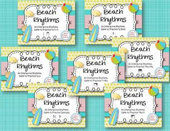 Beach Rhythms! An Interactive Rhythm GAME BUNDLE - 7 GAMES! (Kodaly)