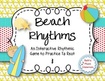 Beach Rhythms! An Interactive Rhythm Game, Practice Ta Rest (Kodaly)