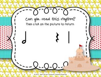 Beach Rhythms! An Interactive Rhythm Game, Practice Ta-a (Kodaly)