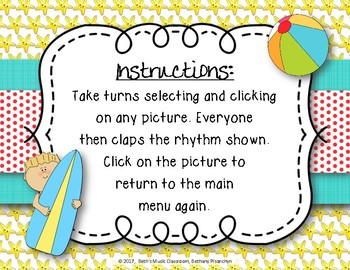 Beach Rhythms! An Interactive Rhythm Game, Practice Tika-ti (Kodaly)