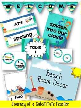 Beach Room Decor Pack