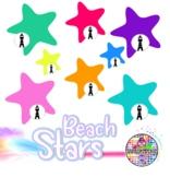 Beach Sand Coral Stars Clip Art