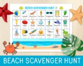 Beach Scavenger Hunt, Summer Game, Beach Activity, Holiday