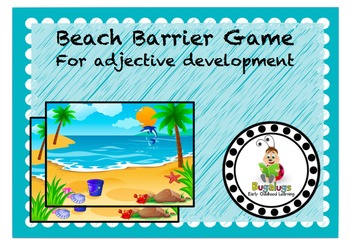 Beach Scene Adjective Learning Barrier Game