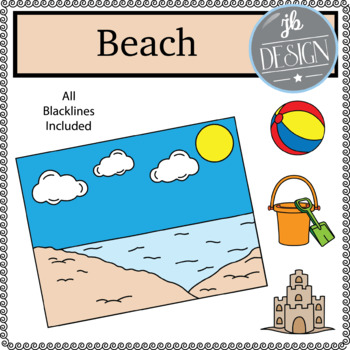 Beach Scene (JB Design Clip Art for Personal or Commercial Use)