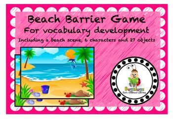 Beach Scene Vocabulary Development Barrier Game