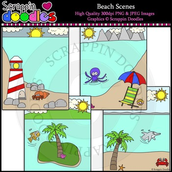 Beach Scenes Backgrounds
