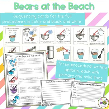 Beach Science and Procedural Writing {bears at the beach snack}