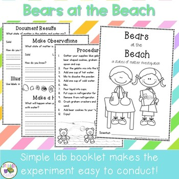 Beach Science and How To Writing {bears at the beach snack}