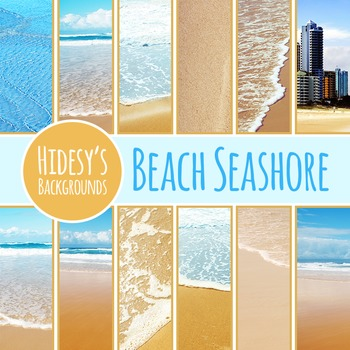 Beach Seashore Digital Papers / Backgrounds / Photos for Commercial Use