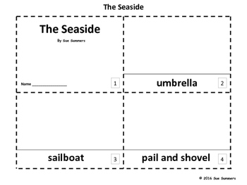 Beach / Seaside / Coast 2 Emergent Reader Booklets - ENGLISH