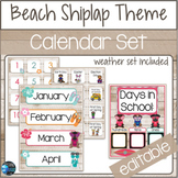 Beach Shiplap Theme Calendar Set