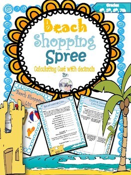 Beach Shopping Spree {MATH REVIEW with Decimals}