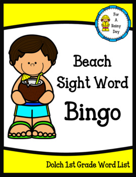 Beach Sight Word Bingo