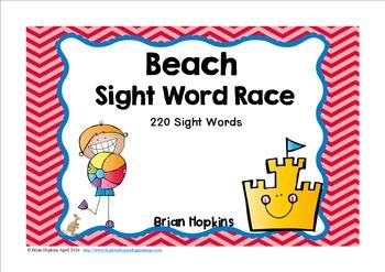 Beach Sight Word Race